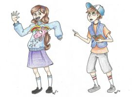 Dipper and Mabel by REMWalker