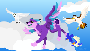 Take to the Sky (B-Day Gift for NigelPuppy) by KinzelRoxArt