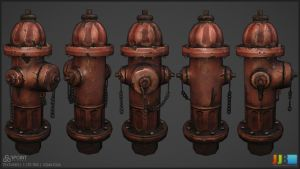 Fire Hydrant - Textured by JeremiahBigley