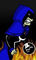 Raven pissed off-colored... by Icemanzero-exe