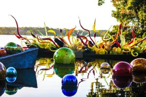 Dale Chihuly exhibit at the Dallas Arboretum by Broken-Weasel