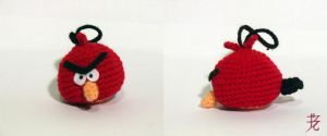 Red Angry Bird car hanger by catnmaus