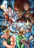 Street Fighter poster color by ComfortLove