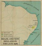 Brazil and New Holland in the late 1640s by edthomasten