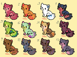 10 point kittens 2 CLOSED by RubyAdopts