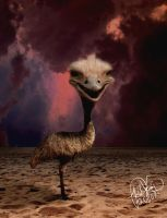 Emstrich the Emo Emu-Ostrich by psivamp