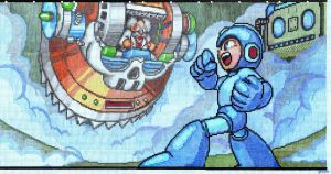 Mega Man vs. Dr.Wily graph paper screen by dragontamer272