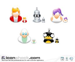 Futurama application Icons WIN by Iconshock