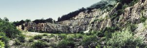 Abandoned quarry by Straxer