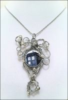TARDIS Necklace by dahliasheng