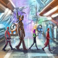 TLIID 228. Guardians of the Galaxy in Abbey Road by AxelMedellin