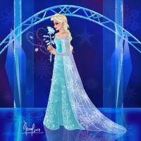 ELSA WITH A ROSE 2 by FERNL