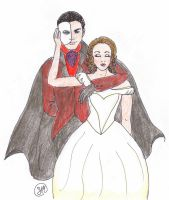 Phantom of the Opera colored by LadyWithoutAName
