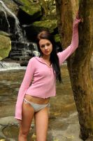 Tara - pink at waterfall 1 by wildplaces