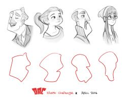 April 2016 shapes by LuigiL