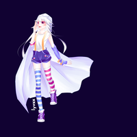 Ghost girl OC softshaded by lyvxx