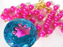 Princess necklace Hot Pink by pinkminx