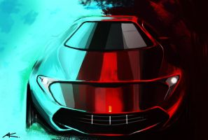 Front ferrari by Chrupson