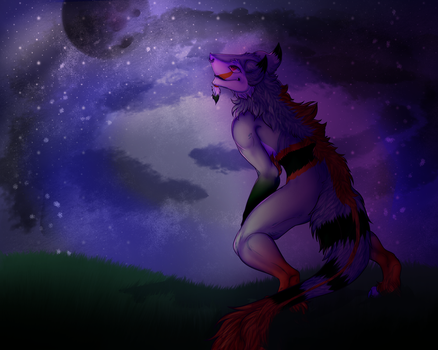 Stare at the sky (speedpaint) by Baby-teeth