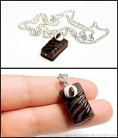 Commission - Chocolate Cheesecake Necklace by Bon-AppetEats