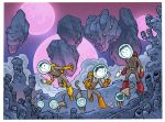 space cats by travisJhanson