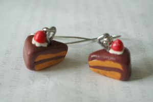 Cake Slice Earrings by Red-Flare