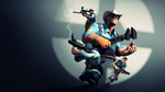 Team Fortress 2 Wallpaper (BLU) by Robogineer