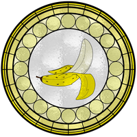 Banana Stained Glass Window by FluidGirl82