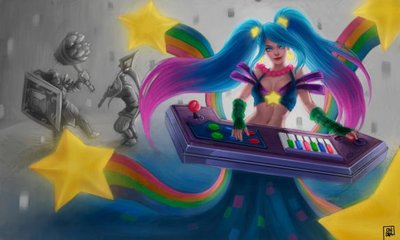 Arcade Sona for polycount contest by Ondraede