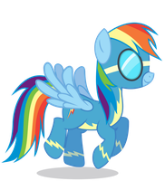 Rainbow Dash as a Wonderbolt by 90Sigma