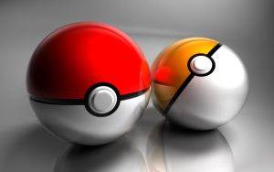 Poke Ball Pair by Calzinger