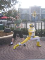 Me and the Yellow Ranger by Phenom-Jak