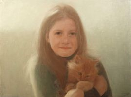 Girl and kitten by rorsdors
