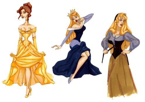 Princesses by LaTaupinette