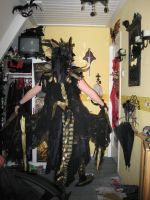 dragon costume finished (back) by queenofeagles