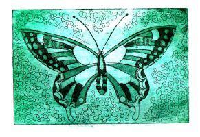 Butterfly Etching by Tallis