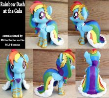 Commission-MLP Figure, Rainbow Dash at the Gala by LostInTheTrees