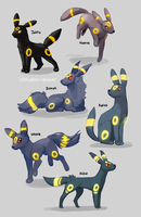 Umbreon Regional Variants by DeNovember