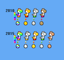 New Custom Yoshi Colors by PxlCobit