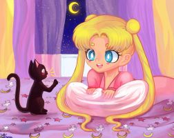 Sailor Moon Room by so-squiggly