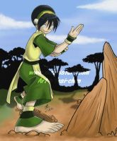 Earthbender Toph by yesi-chan