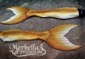 Golden Silicone Functioning Tail by MerBellas