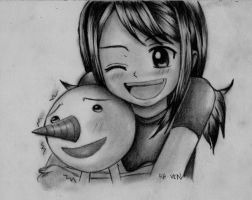 Lucy and Plue by r-a-ven