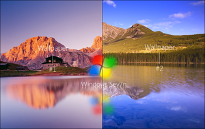 Windows Sev7n lakes dream by CaHilART
