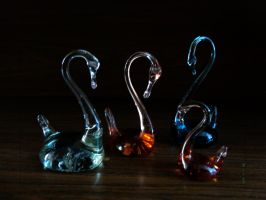 Art Glass Swan by The666Stefan