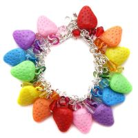 Rainbow Strawberry Bracelet by fairy-cakes