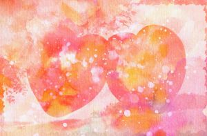 Vintage Watercolor Valentine - Free High Res Stock by somadjinn