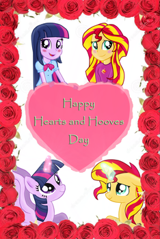 Happy Hearts and Hooves day! by SunsetMajka626