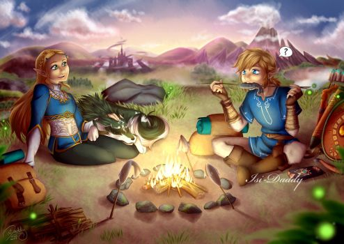 Zelda - Peaceful Moment by Isi-Daddy