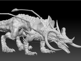3D dragon modeling by Mattermorfer